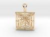 3D Printed Diamond Princess Cut Pendant by bondswe 3d printed