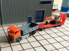 N Scale MAN TGS Dump Truck 3d printed First prototype with construction trailer, model does not have windows