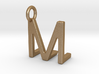 Two way letter pendant - LM ML 3d printed