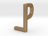 Two way letter pendant - LP PL 3d printed
