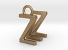 Two way letter pendant - MZ ZM 3d printed