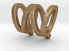 Two way letter pendant - QW WQ 3d printed