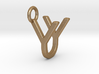 Two way letter pendant - UY YU 3d printed