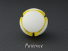 LuminOrb 1.7 - PATIENCE 3d printed Photograph of PATIENCE in Full Color Sandstone