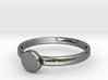 Custom Initial circle ring size 4.7 3d printed