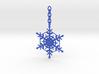 Snowflake Custom Initial Ornament 3d printed