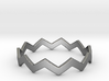 Zig Zag Wave Stackable Ring Size 14 3d printed