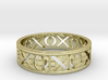 Size 11 Xoxo Ring A 3d printed