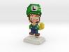 Super Plumber Green Bro Pixel Figurine 3d printed