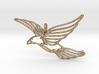 Flying Bird Pendant 3d printed