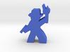 Game Piece, Hat Guy Adventurer, with gun, torch 3d printed