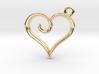 Tiny Heart Charm 3d printed