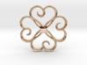 The Clover Pendant 3d printed