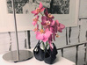 Emergent Vase 3d printed Context image with the vase filled with Orchids