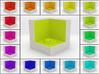 LuminOrb 2.7 - Cube Stand 3d printed Shapeways render of Cube Display Stand for GRATITUDE in Full Color Sandstone