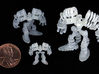 """Springbot V2-7 /Series#1  (30% 2cm/.81"""") Smallest 3d printed several UV veseveral UV versions. this version is the smallest picturedrsions"""