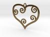 Heart Pendant Charm 3d printed