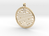 Shou Symbol Jewelry Pendant 3d printed