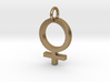 Female Gender Symbol Personalized Monogram Pendant 3d printed
