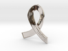 Silver Ribbon Against Depression 3d printed