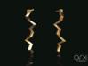 Zeus's Thunderbolt Earrings 3d printed Photo by ARX Studio