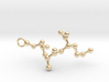 Peptide Sequence Keychain Necklace C A M 3d printed
