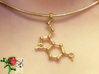 Serotonin 3d printed Magnification of the Serotonin pendant worn on a 18k gold-plated 2 mm/46 cm Omega-Halsreif.