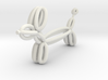 Long Balloon Dog Pendant 3d printed