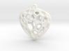 Simple Hearth Pendant 3d printed