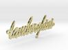 lamborghini chain gold 3d printed