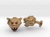 Tiger Head Cufflinks 3d printed