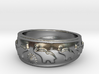 Marching Elephants Ring 3d printed