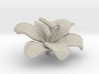Lily Flower Rock 1 - S 3d printed