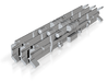 3 Pce N-Scale (1/160) P70 Replacement Underbody  3d printed