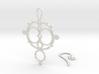 Mandelbrot Earring 3d printed
