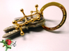 Ambrox 3d printed 18k gold-plated Ambrox keychain with a gold-plated '1 Million' key ring of paco rabanne parfums.