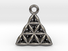 Flower Of Life Tetrahedron Pendant 3d printed