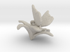 Butterfly And Lily Flower 1 Rock - L 3d printed