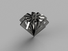 Diamond Forever 3d printed The rendered 3D model in silver