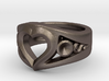 Heart Ring(Inner diameter of ring 16mm) 3d printed