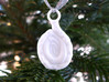 Spiroloculina Ornament - Science Gift 3d printed Spiroloculina ornament in white nylon plastic