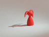 Evil Piece 3d printed Strong & Flexible Coral Red Polished