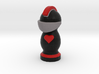 Catan Robber Knight Blk Red Heart 3d printed