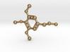 Mescaline Molecule Necklace Keychain 3d printed