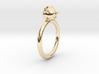 Bear Head Ring 3d printed