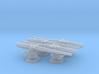 "1:240 4""/50 USN Deck Gun for USS Ward DD 3d printed"