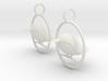 Kingfisher Earrings  3d printed