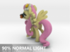 Fluttershy 1 Full Color - S1 3d printed