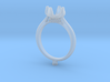 CC60-Engagement Ring Printed Wax 3d printed