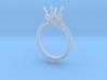 CC69- Engagement Ring Printed Wax Resin. 3d printed
